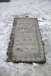 The gravesite of poet Robert Frost, located in Bennington, Vermont.  Sean Puckett, 2003